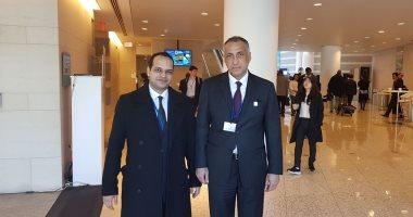 طارق عامر وأحمد يعقوب فى مقر صندوق النقد بواشنطن