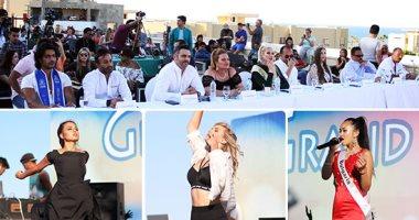 صور.. بدء حفل مواهب ملكات جمال العالم بالعين السخنة باستعراض راقص للجميلات