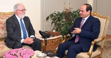 الرئيس عبد الفتاح السيسي يستقبل مفوض الطاقة الأوروبى