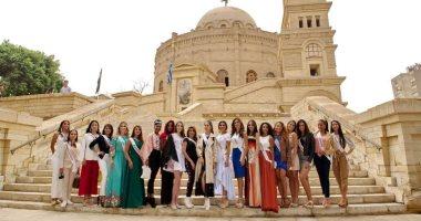 صور.. ملكات جمال العالم يروجن للسياحة من المتحف المصرى ومجمع الأديان