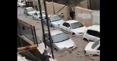 تداول فيديو لغرق شوارع القدس فى مياه السيول