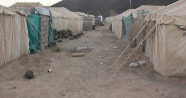 الأمم المتحدة تنتهى من توزيع الطعام فى مخيم ناء بسوريا قرب الأردن