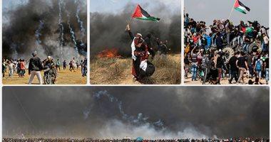 الفلسطينيون يعدون لجمعة انتفاضة القدس على حدود غزة