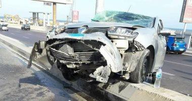 إصابة 3 أشخاص فى حادث تصادم بأحد شوارع مدينة الداخلة
