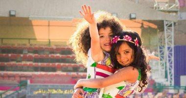 صور.. الطفلتان شيزو ولينا فى جلسة تصوير جديدة لدعم مرضى السرطان