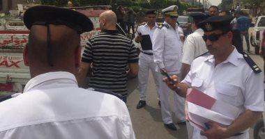 حملة أمنية لإزالة الإشغالات بميادين وشوارع مدينة 6 أكتوبر