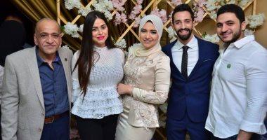 صور.. شهد رمزى وكريم السبكى ووالدة حسن الرداد فى خطوبة نهى السبكى