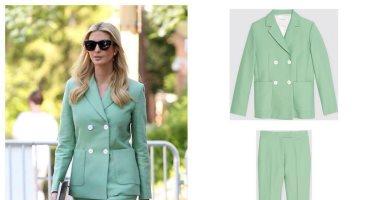 يا بلاش.. إيفانكا ترامب ترتدى بدلة أخضر بـ900 دولار من سانديرو