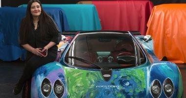 """شاليمار شربتلى ترسم أغلى سيارة فى العالم لتوضع فى متحف """"باجانى"""" بإيطاليا"""