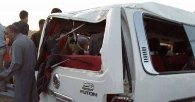 """الصحة: وفاة 13 مواطنا وإصابة 6 آخرين فى حادث تصادم سيارة نقل مع """"ميكروباص"""" بالمنيا"""