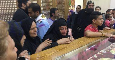"""صور.. توافد أهالى سمالوط فى المنيا على مزار شهداء """"الإيمان والوطن"""""""