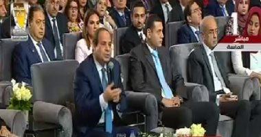 الرئيس السيسي: رفعنا إنتاج الكهرباء 100%.. والانتهاء من الشبكة آخر 2018