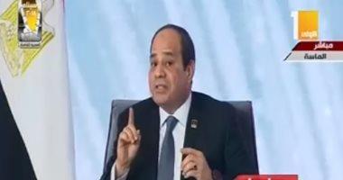 السيسي: لا أهتم بالشعبية وأعمل من أجل أمانة الـ100 مليون مصرى