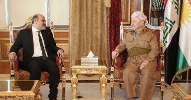 """صور.. """"الجربا"""" و""""البارزانى"""" يبحثان تطورات الأوضاع فى سوريا والعراق"""