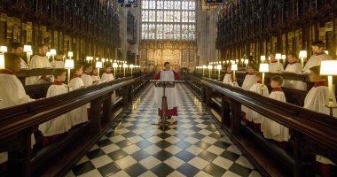 """""""بروفة"""" حفل زفاف الأمير هارى على خطيبته داخل كنيسة سانت جورج بلندن"""