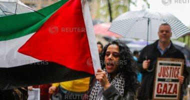 صور..مظاهرات فى نيويورك احتجاجا على مذابح الاحتلال ونقل سفارة أمريكا للقدس
