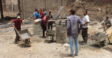 وقف أعمال بناء مخالفة وحملة لرفع الإشغالات بحدائق القبة