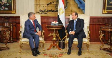 الرئيس السيسى وملك الأردن
