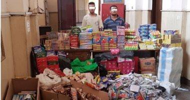 ضبط 4131 عبوة مطهر وقطعة ألعاب نارية بحملة تموينية فى أخر أيام العيد بسوهاج