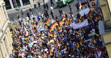 مظاهرات فى ألمانيا لمطالبة الحكومة باستقبال المزيد من اللاجئين