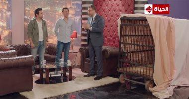عمرو الليثى يطرد مصطفى خاطر ومحمد سلام على الهواء بالحلقة 10 بـ amp quot ربع رومى amp quot