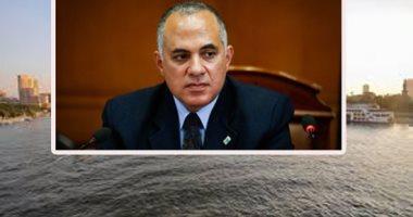 وزير الرى يكلف بتكثيف حملات إزالة التعديات المقامة على المجارى المائية