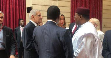 محلب من باريس: مصر ترفض أى تدخل خارجى فى ليبيا وتلتزم بدعم الليبيين