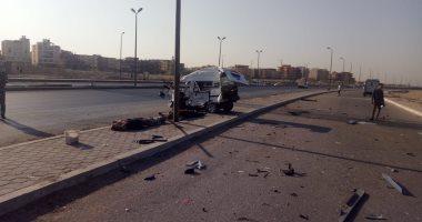 اخبار اليوم – مصرع شخصين وإصابة 6 أخرين فى حادث تصادم سيارتين نقل وملاكى بالسويس