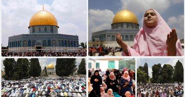 """آلاف الفلسطينيين يتوافدون على الأقصى لأداء صلاة """"الجمعة الثانية"""" من رمضان"""