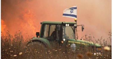 حرق المحاصيل الزراعية بالمستوطنات اليهودية