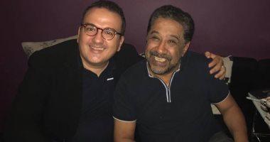 """شاهد.. الشاب خالد وهانى عبد الكريم فى كواليس تسجيل """"تمن حياة"""""""