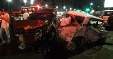 مصرع شخص وإصابة 5 فى حادث تصادم بين سيارتين بـ 15 مايو