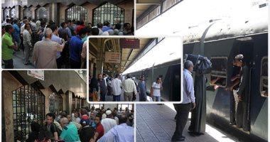 """السكة الحديد: 32 قطارًا """"ذهاب وعودة"""" بين القاهرة والإسكندرية يوميًا طوال أيام الحظر"""