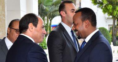 الرئيس السيسي يلتقى رئيس وزراء إثيوبيا على هامش قمة أفريقيا - روسيا