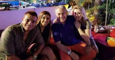 """صورة.. عمرو دياب يشارك فى حفل سحور مسلسل """"مليكة"""""""