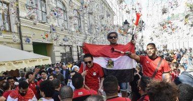 الجماهير المصرية تصنع الحدث فى شوارع روسيا .. صور
