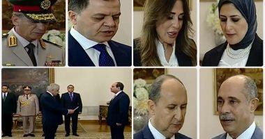 الحكومة تؤدى اليمين الدستورية أمام الرئيس السيسى