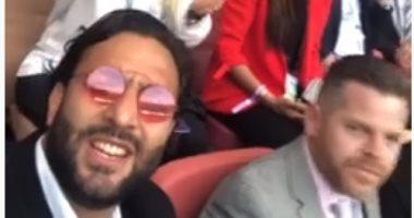 """""""ميدو"""" ينشر فيديو له من المباراة الافتتاحية لكأس العالم"""