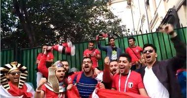 الجماهير المصرية تتوافد على إيكاترينبرج لحضور مباراة أوروجواى فى المونديال