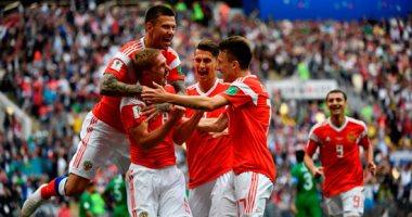 اهداف مباراة السعودية وروسيا اليوم السابع