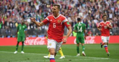 دزيوبا يعمق جراح السعودية ويسجل ثالث أهداف روسيا فى افتتاح كأس العالم