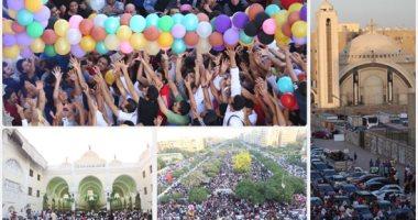 الآلاف يؤدون صلاة عيد الفطر بمسجد أبو بكر الصديق فى مساكن شيراتون