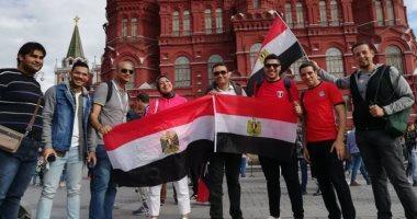 فيديو.. المصريين فى مقاهى روسيا لمشاهدة ألمانيا والمكسيك