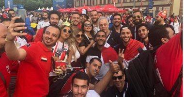 بوسى تنشر صورة لها مع ليلى علوى وحسن الرداد وأشرف زكى قبل حضور حفل عمر خيرت
