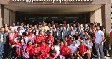 الفوج الأول للبعثة المصرية يغادر إلى إسبانيا للمشاركة فى دورة البحر المتوسط