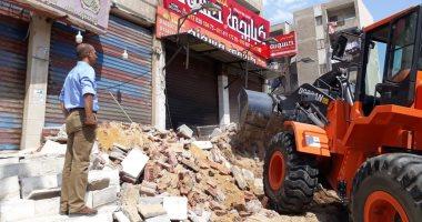 """جهاز """"القاهرة الجديدة"""" ينظم حملة لإزالة الإشغالات والمخالفات بالتجمع الخامس"""