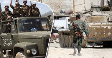 """الجيش السورى يدمر تحصينات لـ """"داعش"""" ويقضى على عدد من الإرهابيين فى السويداء"""