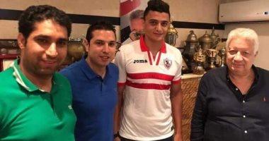 صور.. عمر السعيد يظهر بقميص الزمالك بعد انضمامه رسميا