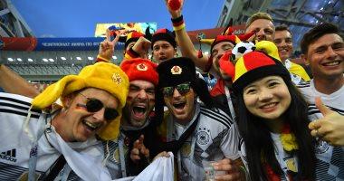 صور.. جماهير ألمانيا والسويد تحتشد بالمدرجات قبل انطلاق مباراة المجموعة السادسة