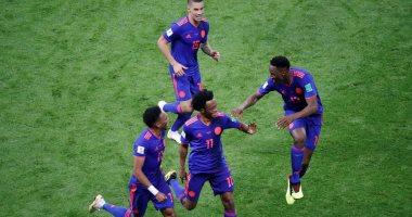 فرحة لاعبى كولومبيا بالفوز